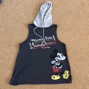 Disneyland Mickey Mouse sleeveless T-shirt w/hood